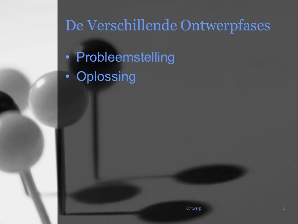 Ontwerp3 De Verschillende Ontwerpfases Probleemstelling Oplossing