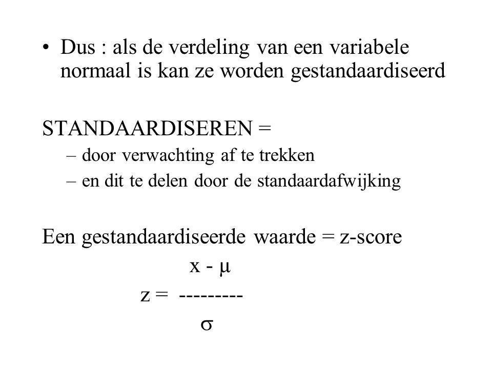 E.Gestandaardiseerde waarnemingen Als een variabele X (bv.