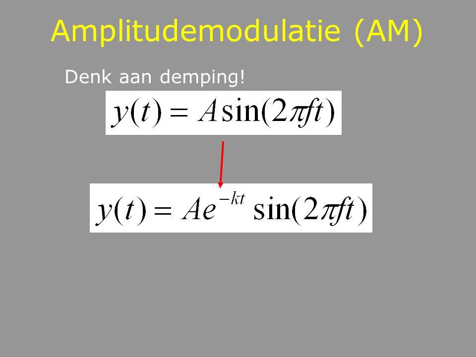 Amplitudemodulatie (AM) Denk aan demping!