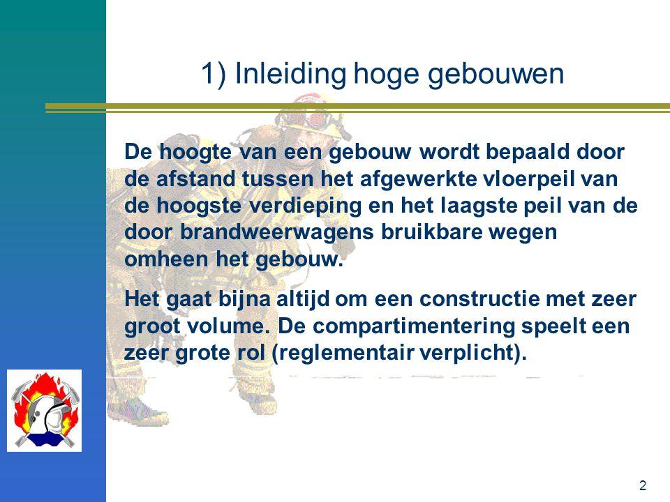 3 2) Voorafgaand interventieplan Een voorafgaand interventieplan kan opgemaakt worden (Burgemeester) voor complexe hoge gebouwen en hoge gebouwen met zeer veel bouwlagen.