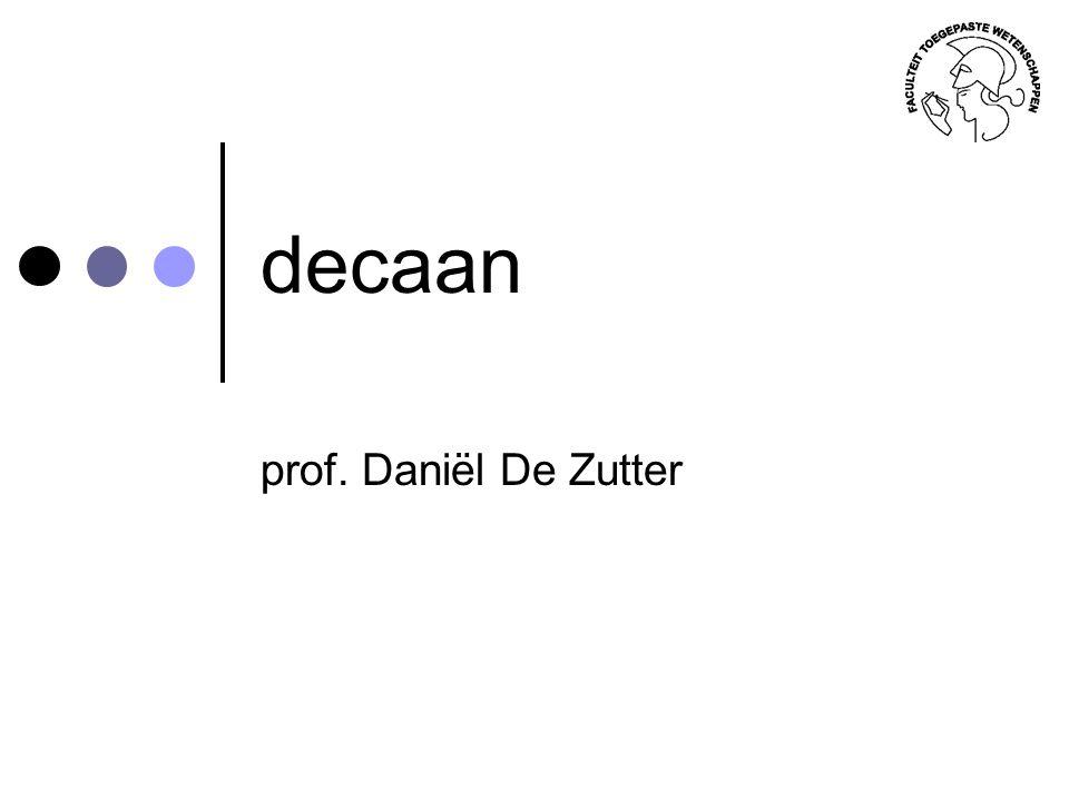 decaan prof. Daniël De Zutter