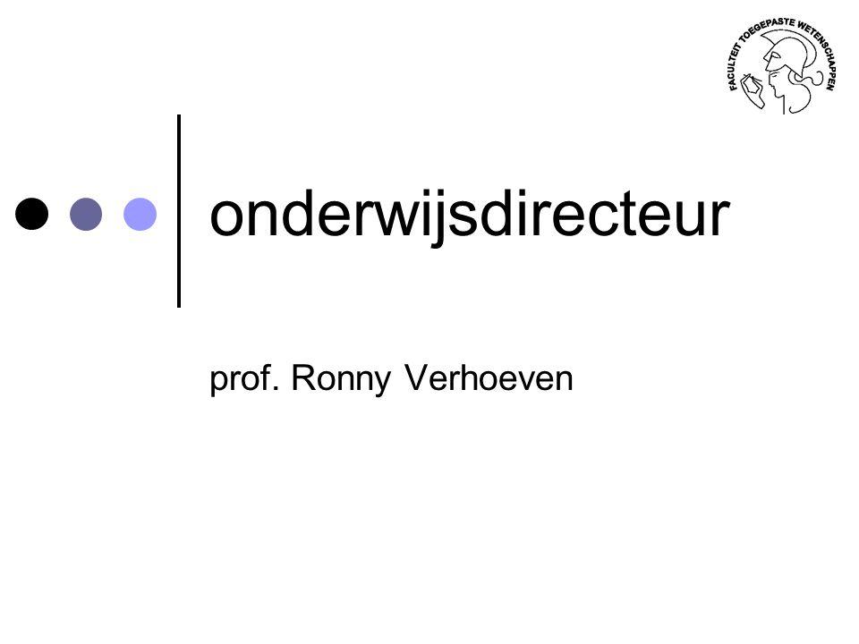 onderwijsdirecteur prof. Ronny Verhoeven