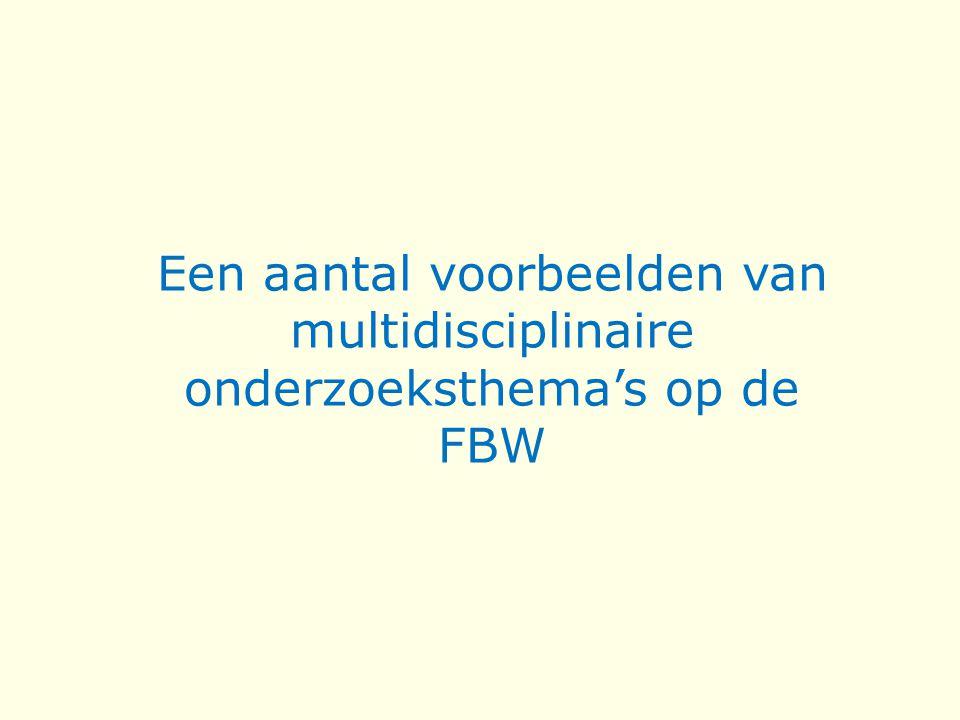 Een aantal voorbeelden van multidisciplinaire onderzoeksthema's op de FBW