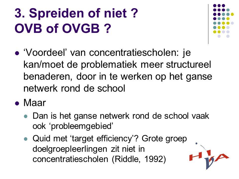3. Spreiden of niet . OVB of OVGB .