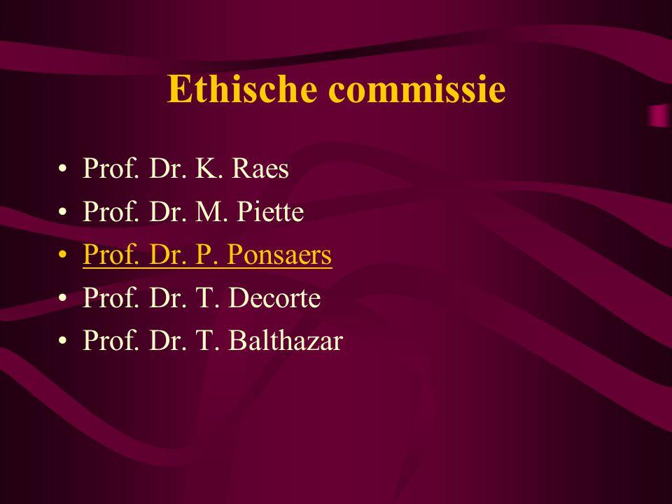 Commissarissen –Op voorstel van student –Op beslissing van de onderwijscommissie –Enkel evaluatie / geen begeleiding