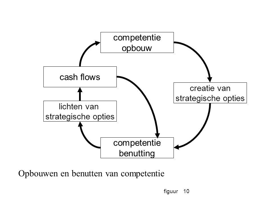 figuur10 competentie opbouw cash flows lichten van strategische opties creatie van strategische opties competentie benutting Opbouwen en benutten van