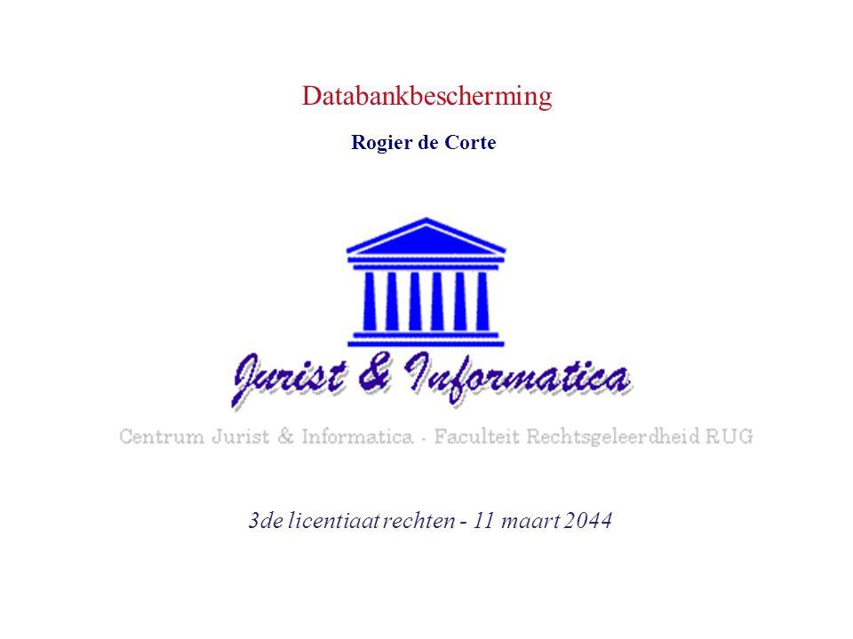 Databankbescherming 3de licentiaat rechten - 11 maart 2044 Rogier de Corte
