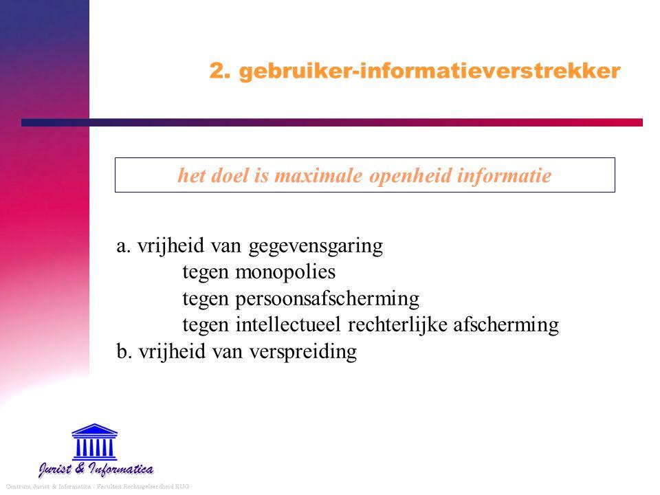 2.gebruiker-informatieverstrekker het doel is maximale openheid informatie a.