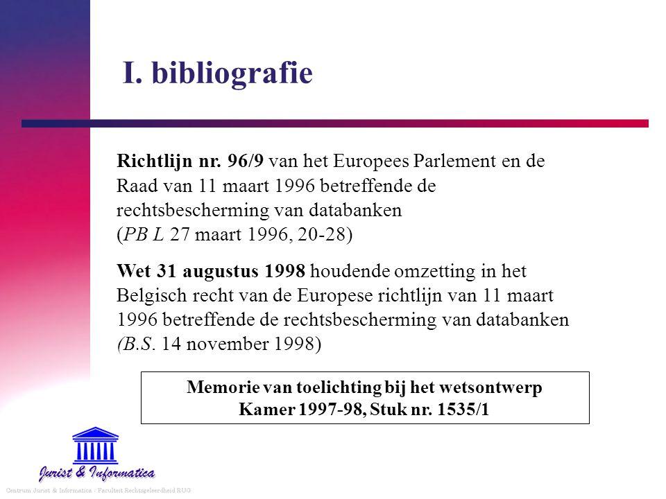 I.bibliografie Richtlijn nr.