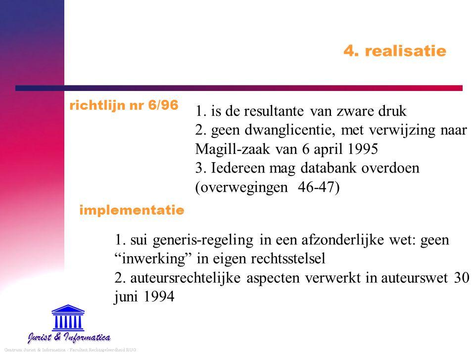 4.realisatie 1. is de resultante van zware druk 2.
