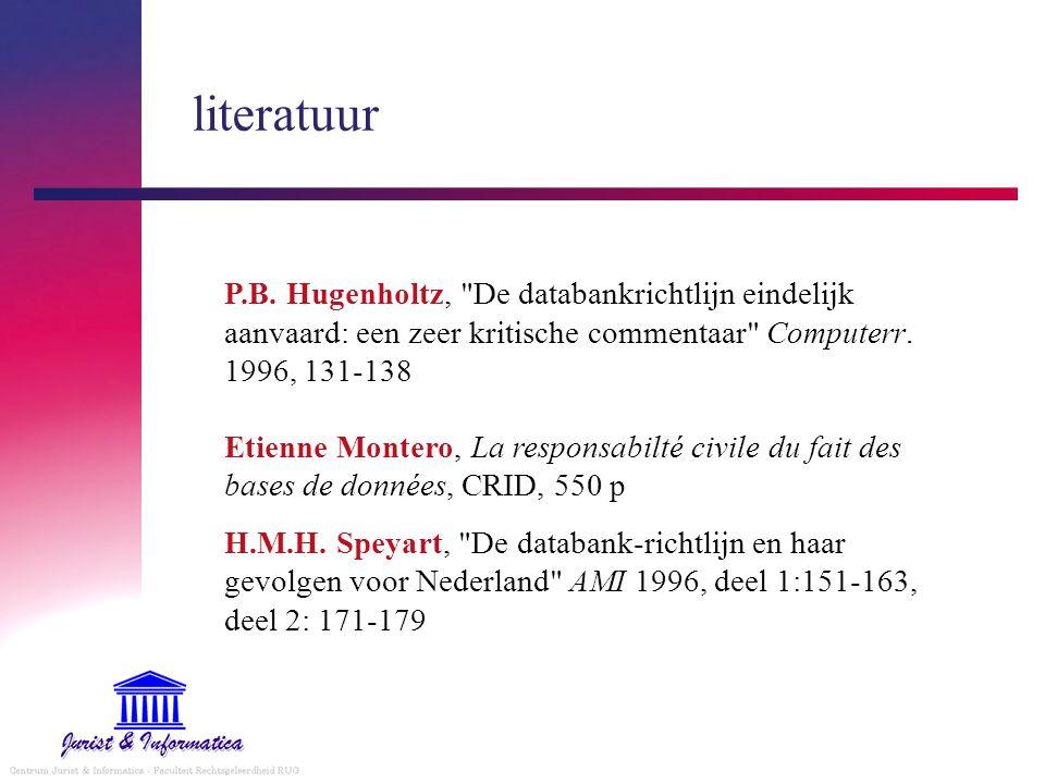 literatuur P.B.