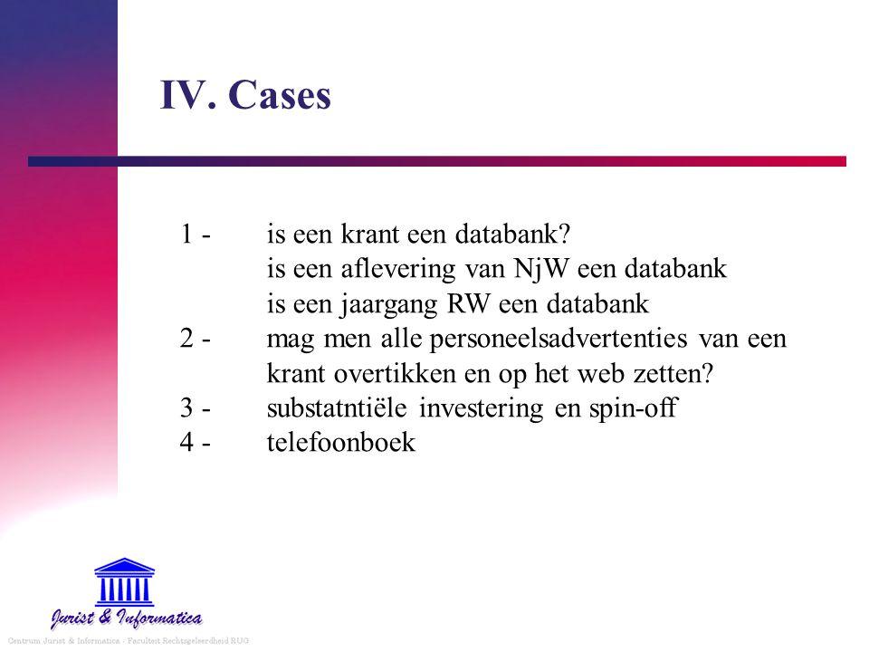 IV.Cases 1 - is een krant een databank.