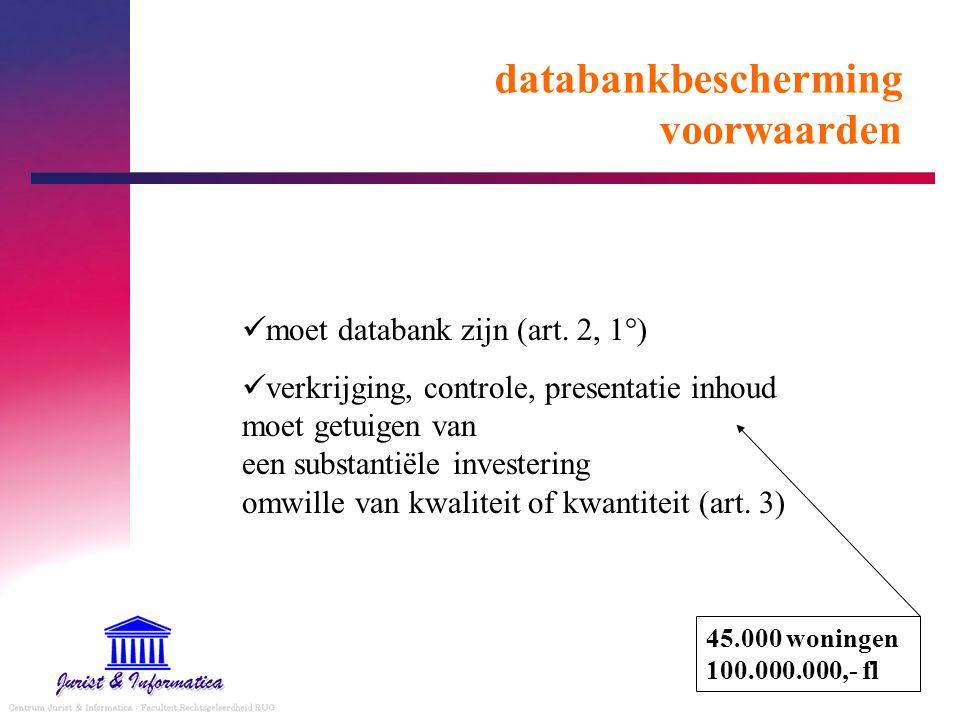 databankbescherming voorwaarden moet databank zijn (art.
