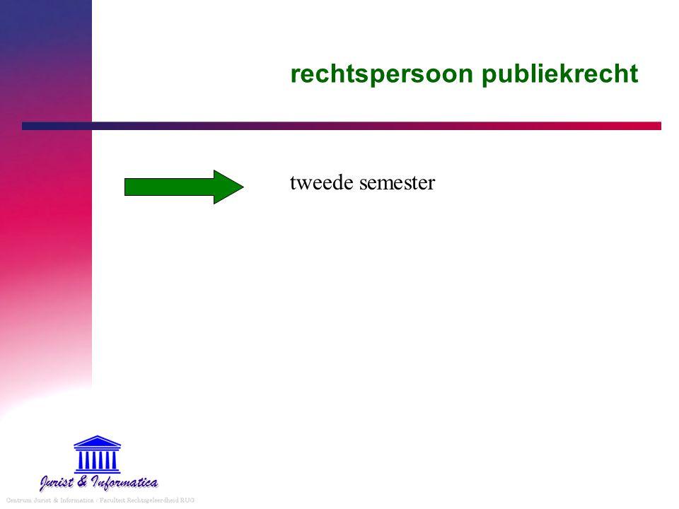 rechtspersoon publiekrecht tweede semester