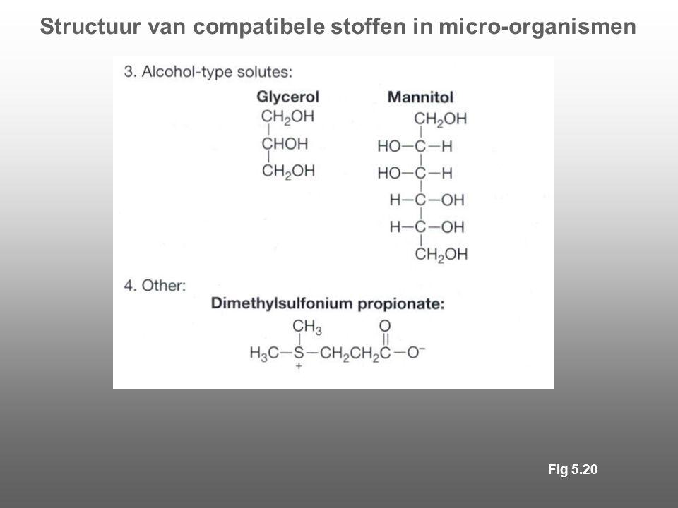 Structuur van compatibele stoffen in micro-organismen Fig 5.20