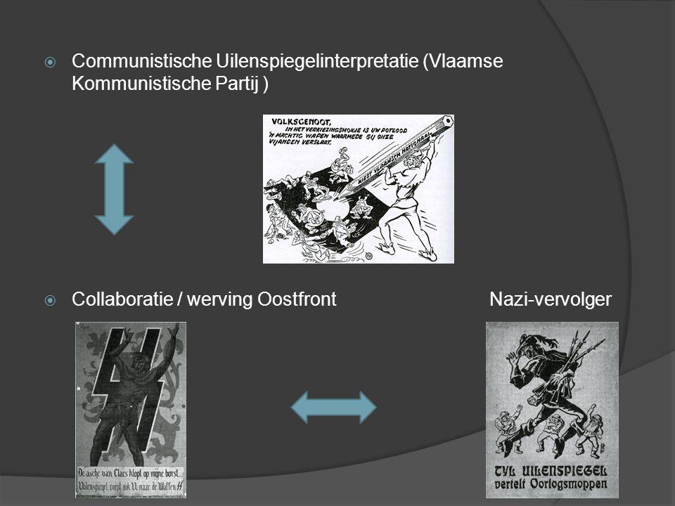  Communistische Uilenspiegelinterpretatie (Vlaamse Kommunistische Partij )  Collaboratie / werving Oostfront Nazi-vervolger