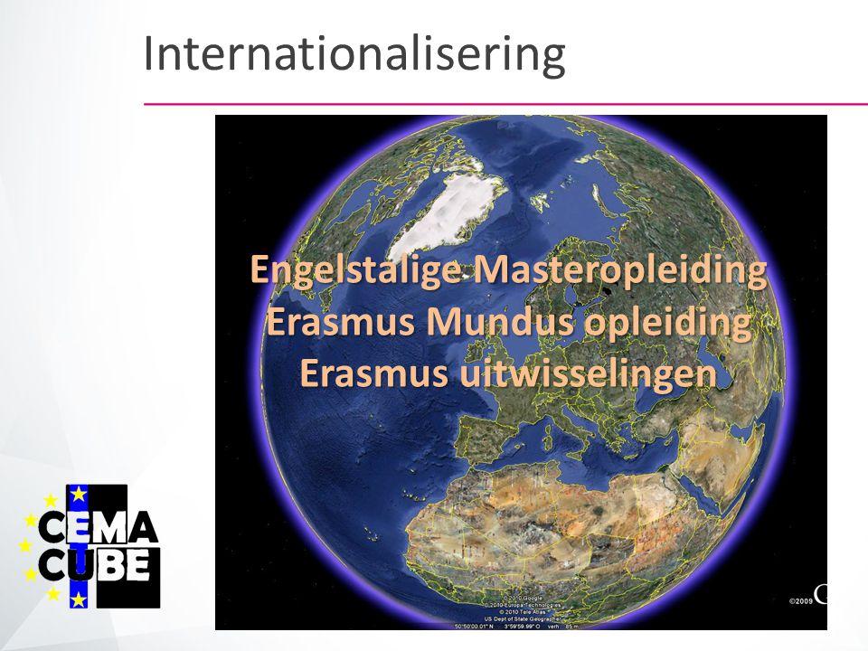 Engelstalige Masteropleiding Erasmus Mundus opleiding Erasmus uitwisselingen Internationalisering