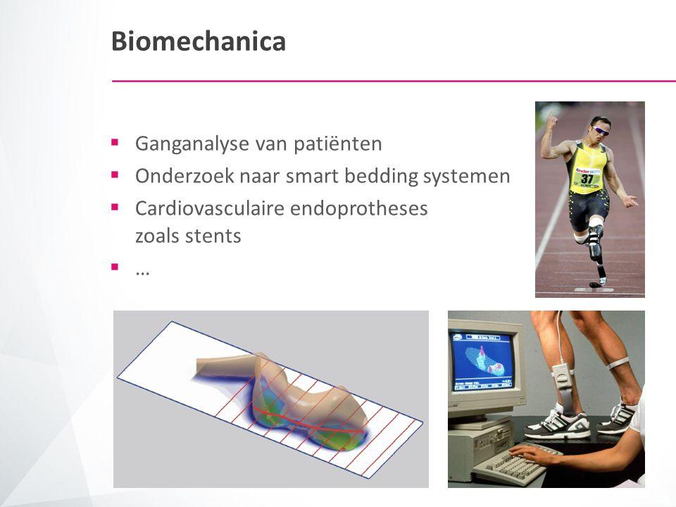 Biomaterialen  Orthopedische materialen voor heupprotheses, tandprotheses…  Cardiovasculaire materialen voor stents, artificiële bloedvaten…  Biocompatibele materialen voor lenzen  …