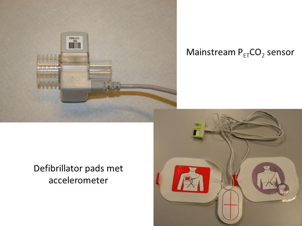 Mainstream P ET CO 2 sensor Defibrillator pads met accelerometer