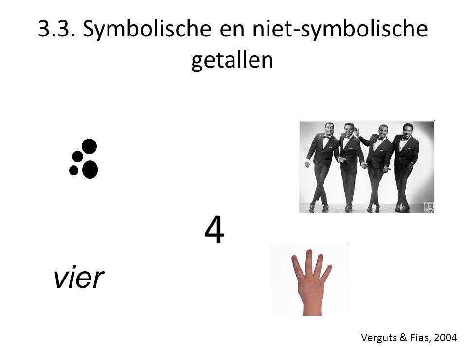3.3. Symbolische en niet-symbolische getallen vier 4 Verguts & Fias, 2004