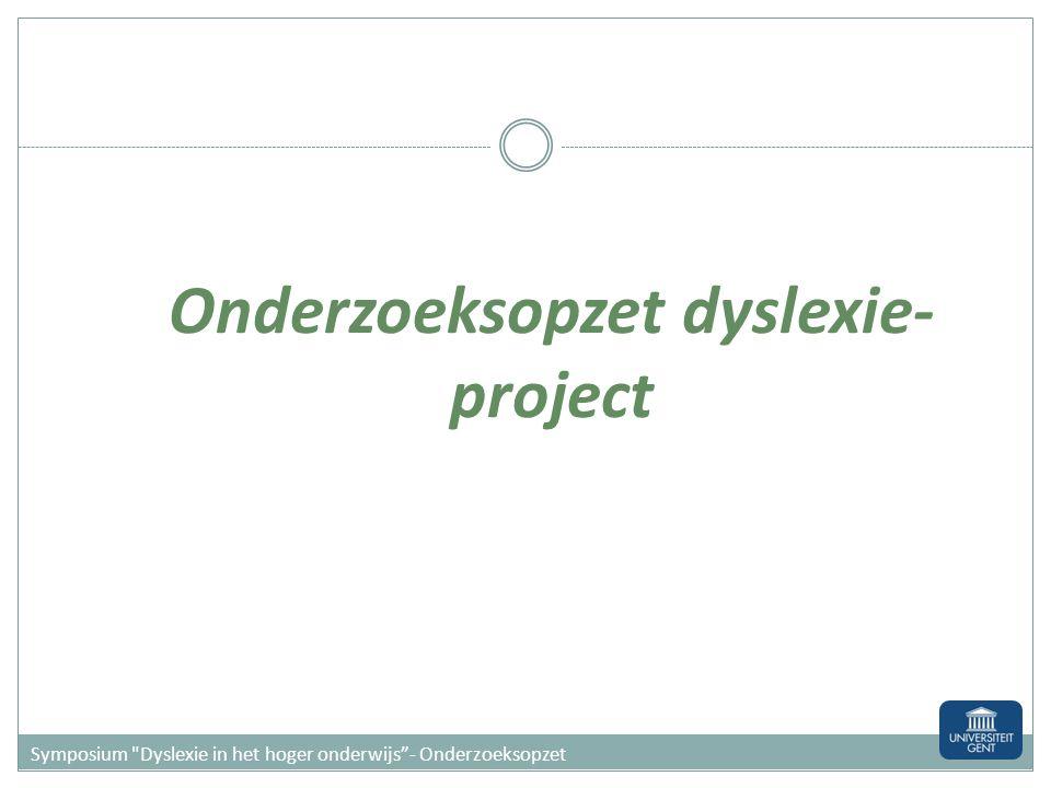 Cognitief profiel van eerstebachelorstudenten met dyslexie Metacognitie, executieve functies en persoonlijkheid bij studenten met dyslexie Slaagkansen
