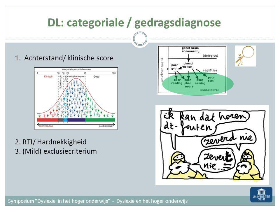 1.Achterstand/ klinische score 2. RTI/ Hardnekkigheid 3.