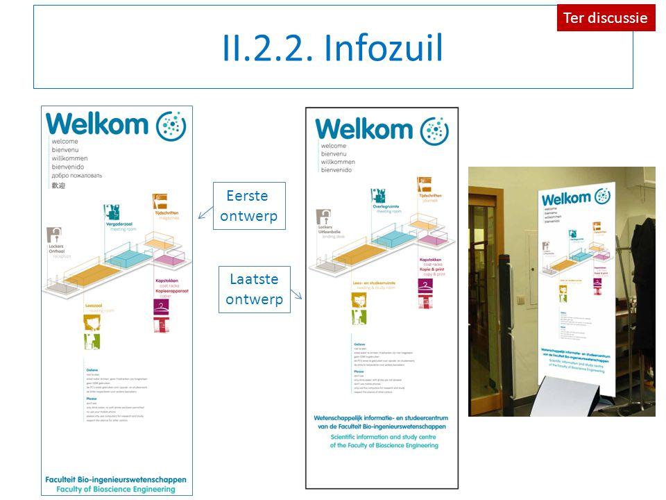 II.2.2. Infozuil Eerste ontwerp Laatste ontwerp Ter discussie