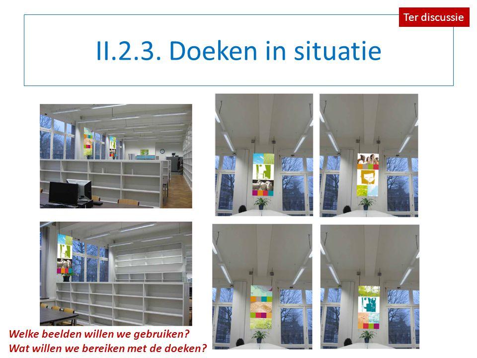 II.2.3. Doeken in situatie Ter discussie Welke beelden willen we gebruiken.