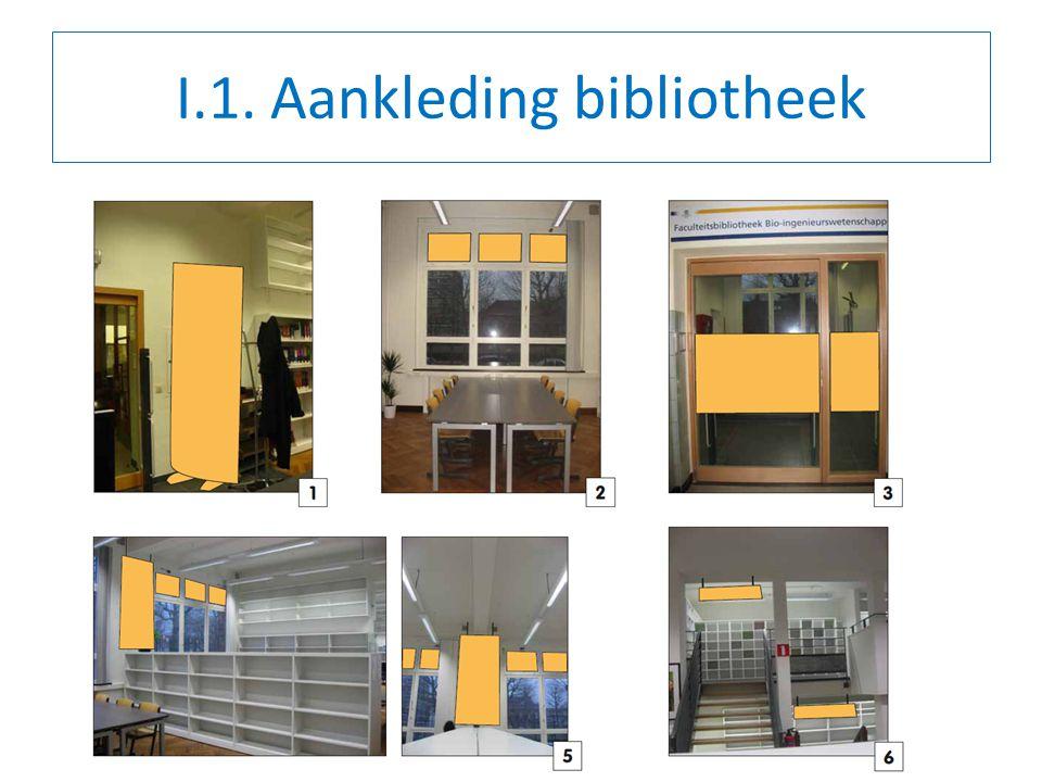 I.1. Aankleding bibliotheek