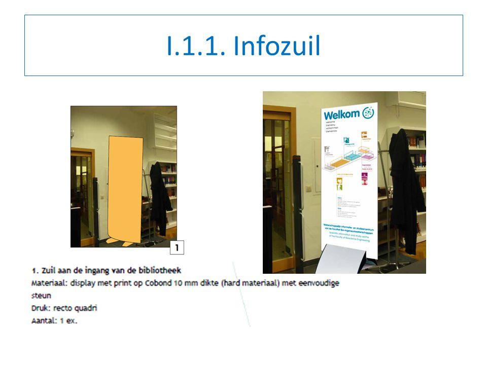 II.2.2.Welke info op zuil. Talen. Picto PC . Tekst.