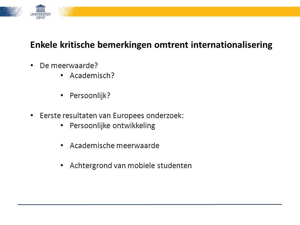 Enkele kritische bemerkingen omtrent internationalisering De meerwaarde.