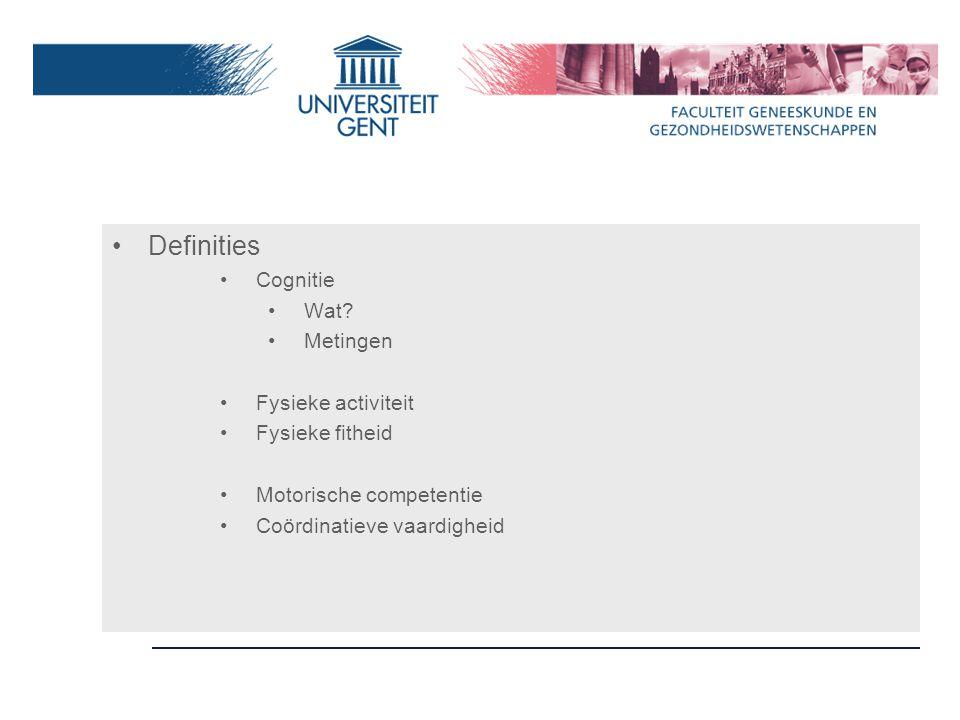 Definities Cognitie Wat.