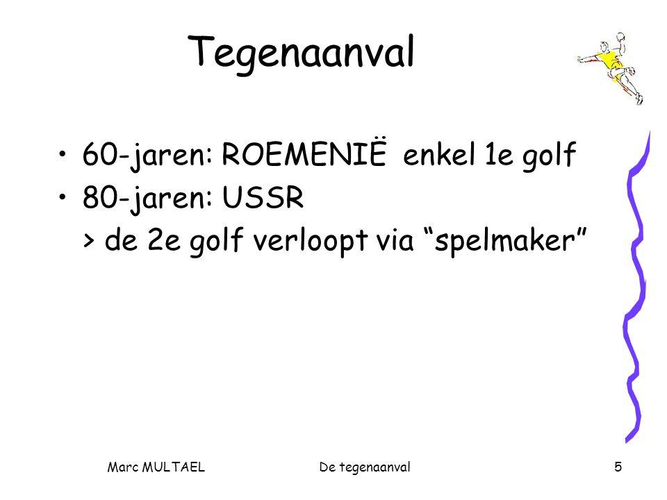 Marc MULTAELDe tegenaanval5 Tegenaanval 60-jaren: ROEMENIË enkel 1e golf 80-jaren: USSR > de 2e golf verloopt via spelmaker