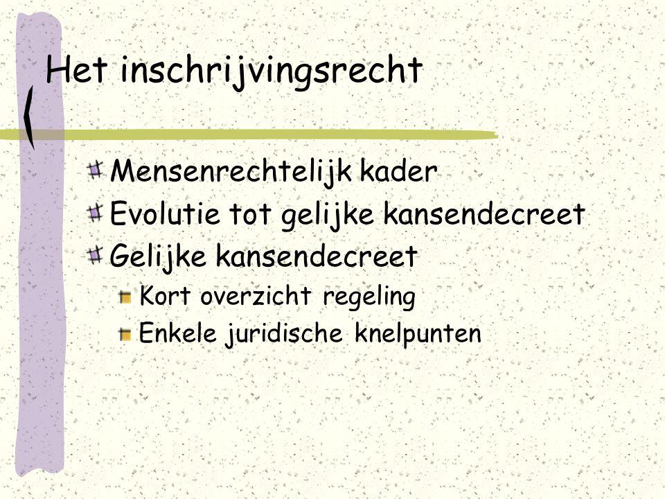 III.Het inschrijvingsrecht in het DGOK-I 2.Verzoenbaar met actieve onderwijs- vrijheid.