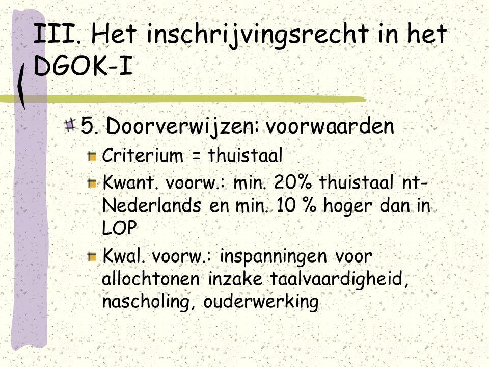 III. Het inschrijvingsrecht in het DGOK-I 5.