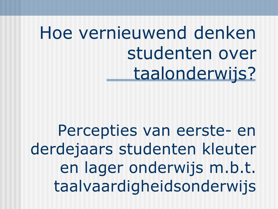 Hoe vernieuwend denken studenten over taalonderwijs.