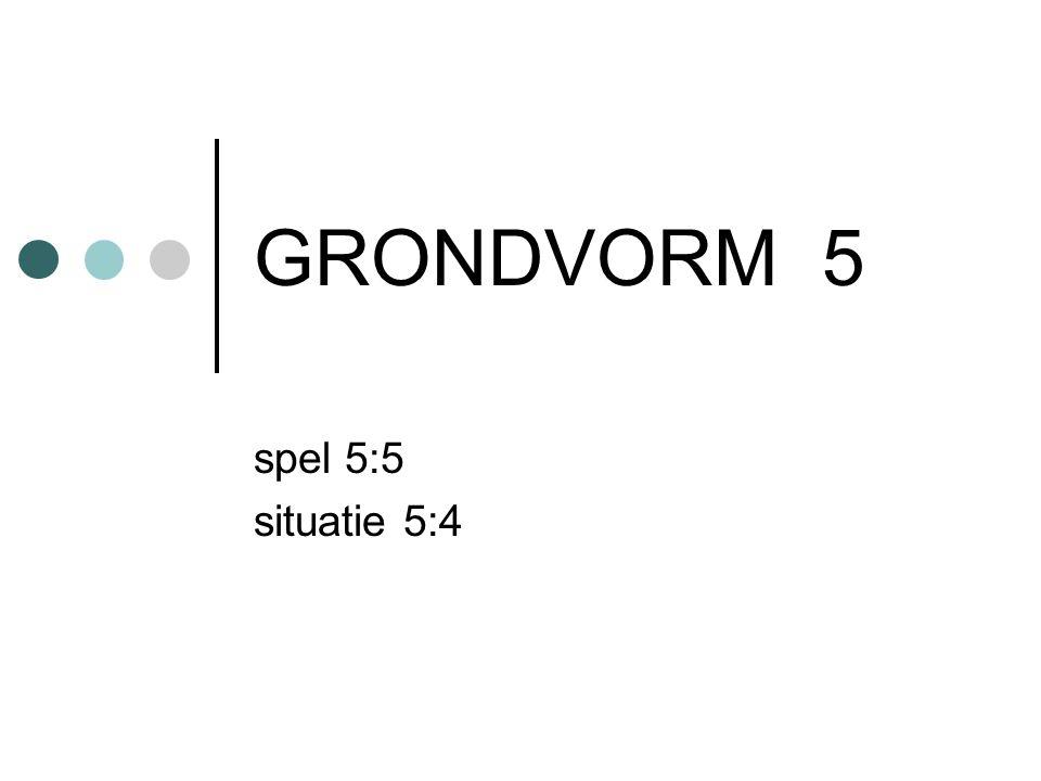 GRONDVORM 5 spel 5:5 situatie 5:4
