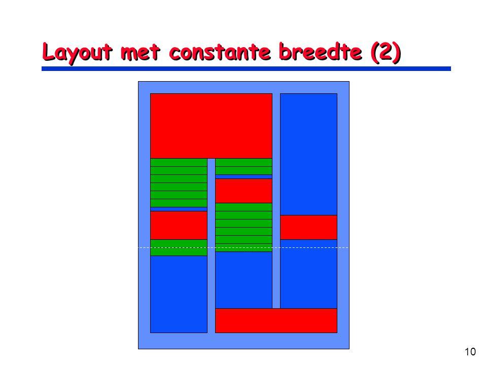10 Layout met constante breedte (2)