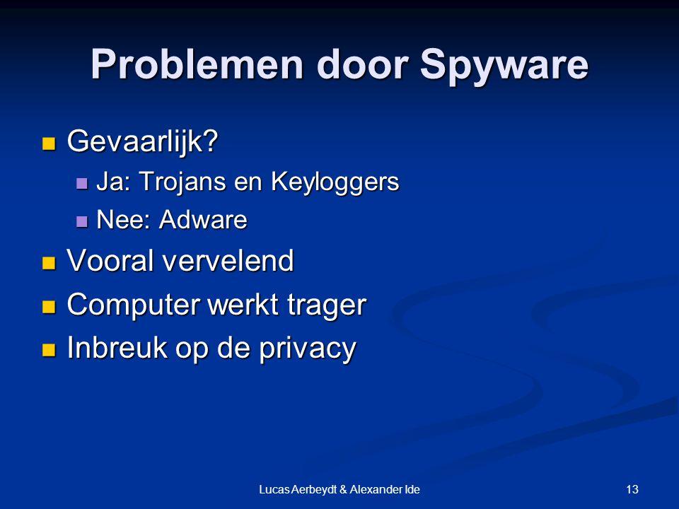 13Lucas Aerbeydt & Alexander Ide Problemen door Spyware Gevaarlijk.