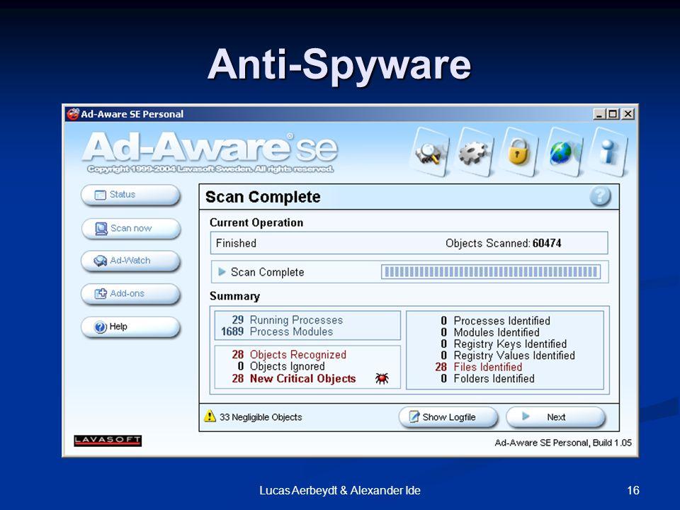 16Lucas Aerbeydt & Alexander Ide Anti-Spyware