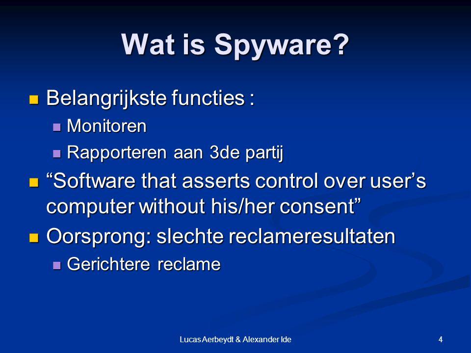 4Lucas Aerbeydt & Alexander Ide Wat is Spyware.
