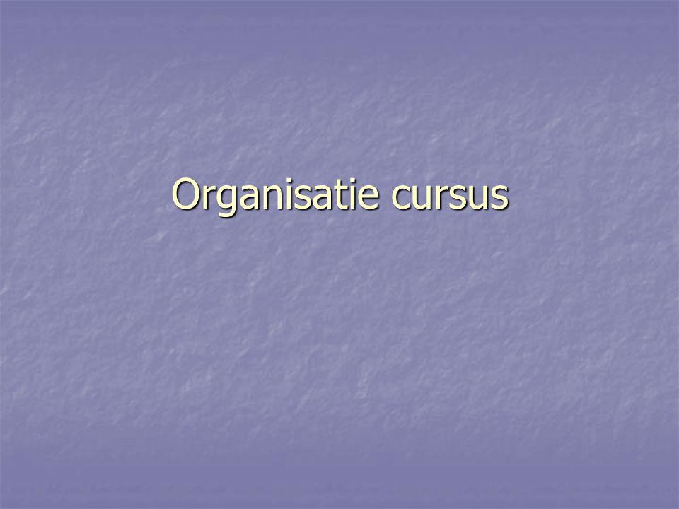 Organisatie cursus