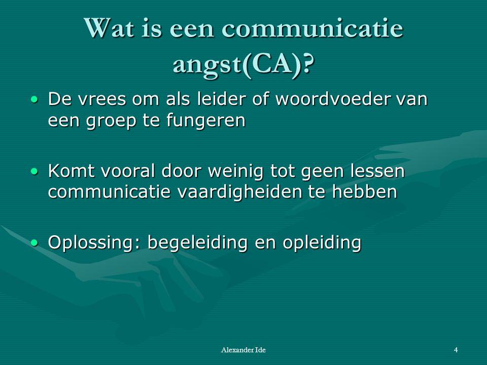 Alexander Ide4 Wat is een communicatie angst(CA).
