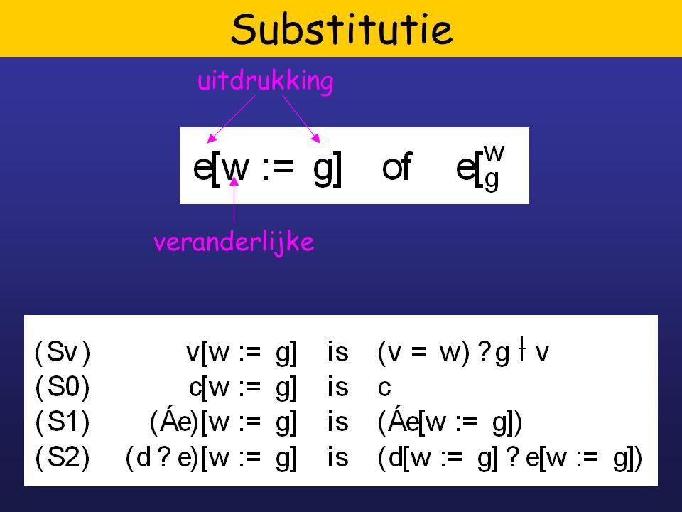 7 Substitutie uitdrukking veranderlijke