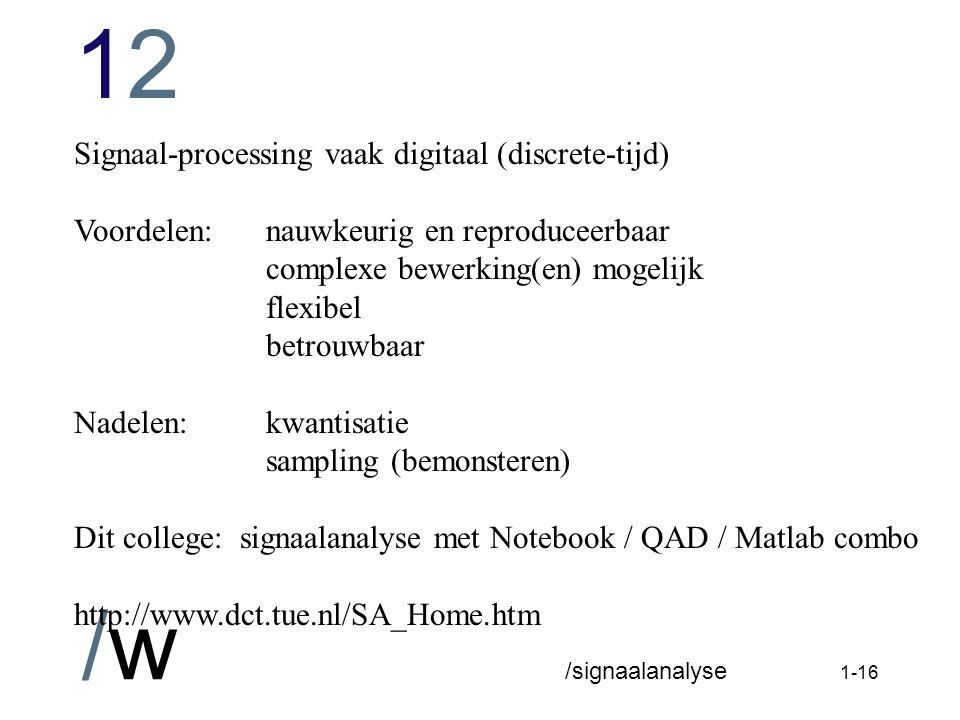 1212 /w /signaalanalyse 1-15 Voorbeeld 2