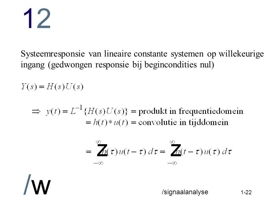 1212 /w /signaalanalyse 1-21 Per definitie: