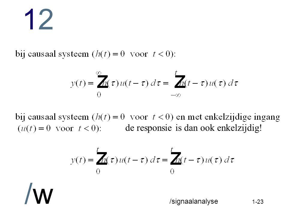 1212 /w /signaalanalyse 1-22 Systeemresponsie van lineaire constante systemen op willekeurige ingang (gedwongen responsie bij begincondities nul)