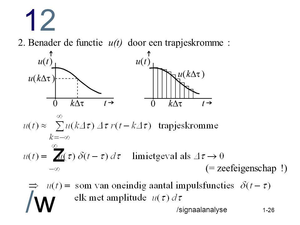 1212 /w /signaalanalyse 1-25 Afleiding van de convolutie-integraal (integraal van Duhamel).