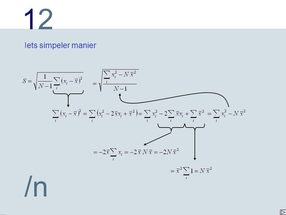 1212 /n Iets simpeler manier
