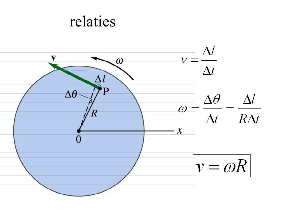Voorbeeld: koppelingsplaten Ma = 6 kg, Mb=9kg, R=0.6 m Ma begint met draaien en na 2 s is  a = 7.2 rad/s  La=7.8 kgm 2 /s Bepaal krachtmoment nodig om Ma te versnellen  =dL/dt  =  L/  t  =  m